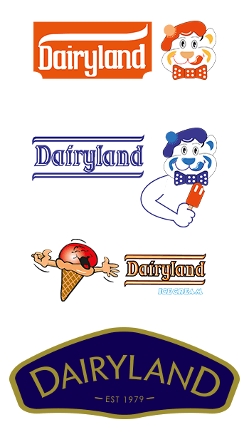 Dairyland re-branded the logo, tubs and colours.