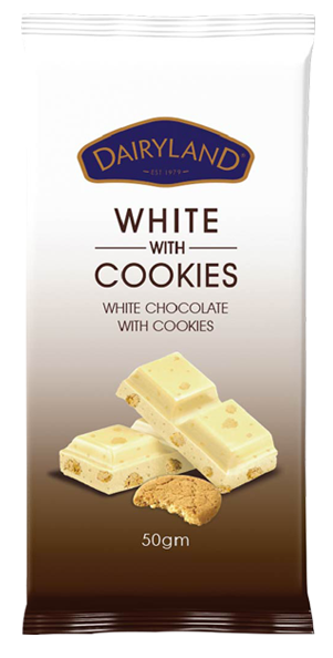 White with cookies